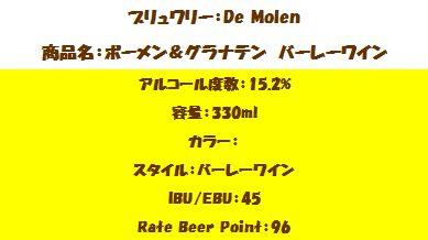 ボーメン&グラナテン バーレーワイン(詳細)